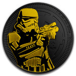 2 $ Dollar Star Wars - Stormtrooper Black Gold Edition Niue Island 1 oz Silber + Ruthenium 2018