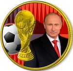 3 Rubel Fussball WM Fifa World Cup Putin Russland 1 oz Silber 2018