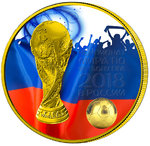 3 Rubel Fussball WM Fifa World Cup Fans Russland 1 oz Silber 2018