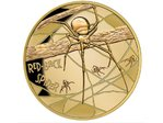 100 $ Dollar Deadly & Dangerous - Red-Back Spider - Export Version Niue Island 1 oz Gold 2018