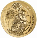 100 Francs Nautical Ounce - Endeavour Ruanda Rwanda 1 oz Gold BU 2018