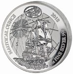 50 Francs Nautical Ounce Endeavour Ruanda Rwanda 1 oz Silber PP 2018
