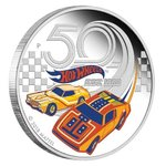 1 $ Dollar 50 Years - 50 Jahre Hot Wheels Tuvalu 1 oz Silber PP 2018 **