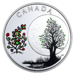 3 $ Dollar 13 Teachings From Grandmother Moon - Flower Moon Kanada 1/4 oz Silber PP 2018 **