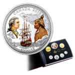 Special Edition Silver Dollar Proof Set 240th Anniv. Captain Cook Nootka Sound Kanada Silber 2018 **