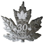 20 $ Dollar 30th Anniversary - 30 Jahre Silver Maple Leaf Shaped Kanada 1 oz Silber PP 2018