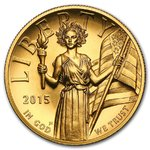 100 $ Dollar U.S. Mint American Liberty High Relief USA 1 oz Gold 2015
