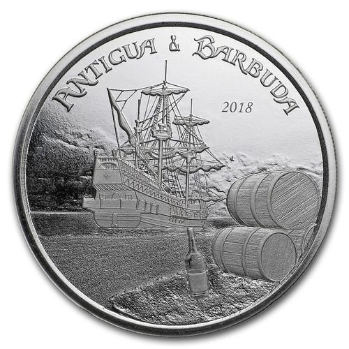 2 $ Dollar EC8 - Eastern Caribbean 8 - Rum Runner Antigua & Barbuda 1 oz Silber 2018 **
