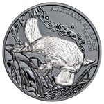 1 $ Dollar Australia at Night - Platypus - Schnabeltier Black Proof Niue Island 1 oz Silber 2018 **