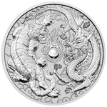 1 $ Dollar Dragon and Tiger - Drache und Tiger - Australien 1 oz Silber 2018 **