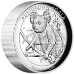 8 $ Dollar Koala High Relief Australien 5 oz Silber PP 2018 **
