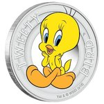 50 Cents Looney Tunes - Tweety Bird Tuvalu 1/2 oz Silber 2018 PP **