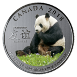 8 $ Dollar The Peaceful Panda - A gift of Friendship  Kanada 1/4 oz Silber 2018 **