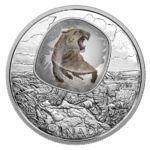 20 $ Dollar Frozen in Ice Scimitar Sabre-tooth Cat Säbelzahnkatze  Kanada 1 oz Silber PP 2018 **