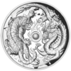 2 $ Dollar Dragon and Tiger - Drache und Tiger High Relief Australien 2 oz Silber PP 2018 **