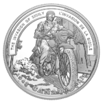 20 $ Dollar Second World War Battlefront - Invasion of Sicily Kanada 1 oz Silber PP 2018 **