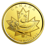 5 $ Dollar Symbols of the North - Symbole des Nordens Kanada 1/10 oz Gold PP 2018