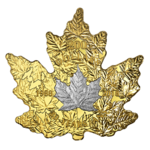 200 $ Dollar Maple Leaf Shaped Cut Out 30th Anniversary Platinum Maple Leaf Kanada 1 oz Gold PP 2018