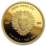 50000 Francs Mandala - Lion Löwe Tschad Chad 1 oz Gold 2018