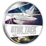 2 $ Dollar Star Trek Enterprise The Original Series - Ships Tuvalu 2 oz Silber PP 2018 **