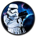 2 $ Dollar Star Wars - Stormtrooper Black Coloured Edition Niue Island 1 oz Silber + Ruthenium 2018