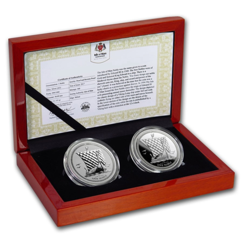 2 x 1 Noble PU / Reverse Proof Set Isle of Man 2 x 1 oz Silber 2018 PU - Reverse Proof **