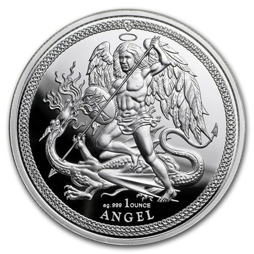 1 Angel Engel Isle of Man 1 oz Silber 2018 Premium Uncirculated **