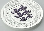 1 Pound The Royal Arms of England - Three Lions Gibraltar Purple Reverse Proof 1 oz Silber 2018 **
