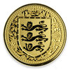 5 Pfund Pounds The Royal Arms of England - Three Lions Gibraltar Black Reverse Proof 1 oz Gold 2018