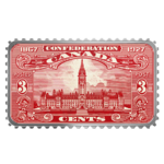 20 $ Dollar Canada's Historical Stamps - Parliament Building Kanada 1 oz Silber PP 2018 **