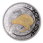 1 $ Dollar Iconic Brown Kiwi Silver Proof Neuseeland 1 oz Silber PP 2019 **