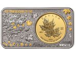 40th Anniversary of the Gold Maple Leaf Premium Bar Set Kanada 1 oz Silber + 1/4 oz Gold PP 2019