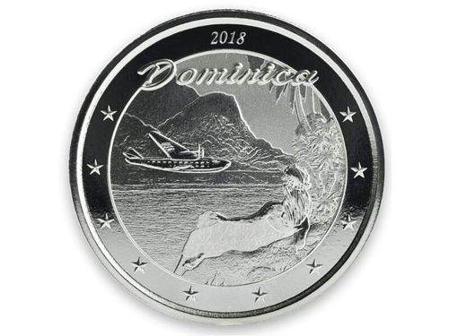 2 $ Dollar EC8 - Eastern Caribbean 8 - The Nature Isle Dominica 1 oz Silber 2018 **