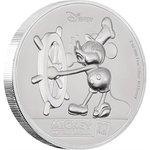 5 $ Dollar 90th Anniversary 90 Jahre Mickey Mouse Ultra High Relief Niue Island 2 oz Silber 2018 **