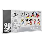 1 $ Dollar Disney - 90th Anniversary - 90 Jahre Mickey Mouse Niue Island Silber 2018 **