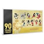 10 $ Dollar Disney - 90th Anniversary - 90 Jahre Mickey Mouse Niue Island Gold 2018