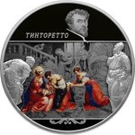 25 Rubel Tintoretto (Jacopo Robusti) Creations Russland 5 oz Silber PP 2018