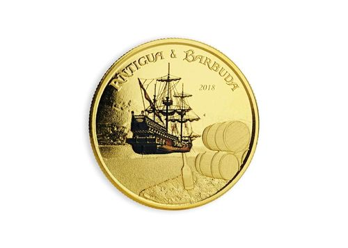 10 $ Dollar EC8 - Eastern Caribbean 8 - Rum Runner Antigua & Barbuda 1 oz Gold Prooflike 2018