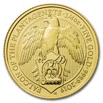 25 Pfund Pounds The Falcon of the Plantagenets Großbritannien 1/4 oz Gold 2019
