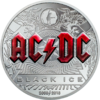 10 $ Dollar AC/DC - Black Ice Cook Islands 2 oz Silber Black Proof 2018 **