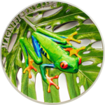 5 $ Dollar Magnificent Life Tree Frog - Baumfrosch High Relief Cook Islands 1 oz Silber PP 2018 **