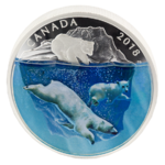 30 $ Dollar Dimensional Nature - Polar Bears Eisbären Kanada 2 oz Silber PP 2018 **