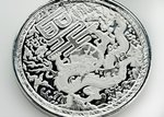 500 Francs Imperial Dragon Drache Cameroon Kamerun 1 oz Silber Prooflike 2018 **