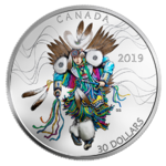 30 $ Dollar Fancy Dance - Indianer Kanada 2 oz Silber PP 2019 **