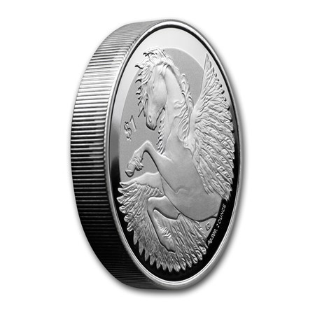 1 $ Dollar Pegasus British Virgin Islands 2 oz Silber 2018 Reverse Frosted **