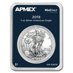 1 $ Dollar Silver American Eagle USA Apmex MintDirect® Premier 1 oz Silber 2018 **
