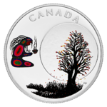 3 $ Dollar 13 Teachings From Grandmother Moon - Falling Leaves Moon Kanada 1/4 oz Silber PP 2018 **