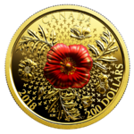200 $ Dollar Armistice Poppy Kanada 1 oz Gold Reverse Proof 2018
