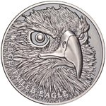 1 $ Dollar Wildlife Close-Up - Wedge Tailed Eagle Ultra High Relief Niue Island 1 oz Silber 2019 **