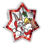 1 $ Dollar Looney Tunes Christmas Star Shaped - Weihnachten Tuvalu 1 oz Silber 2018 **